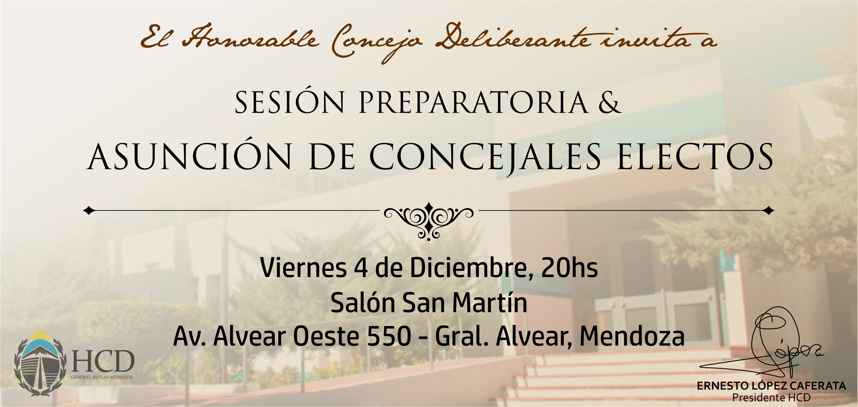 Sesión Preparatoria y Asunción de Concejales Electos