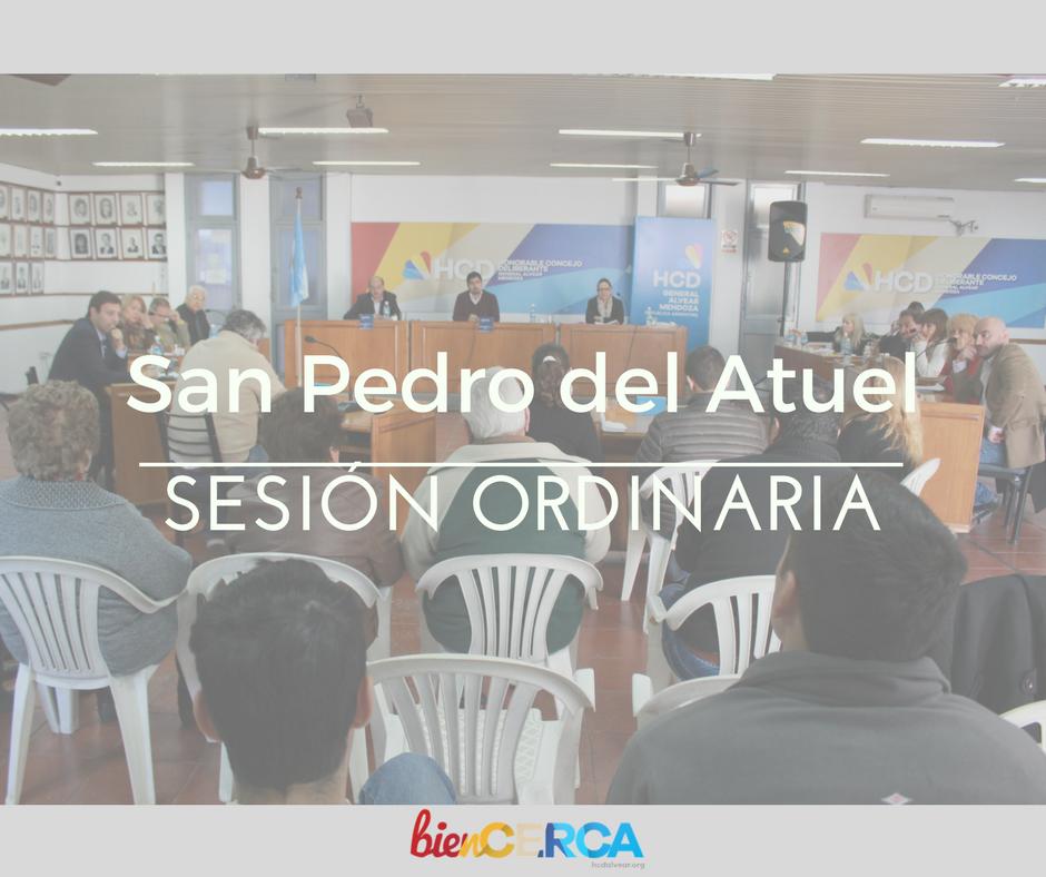 Este jueves el Concejo sesiona en San Pedro del Atuel